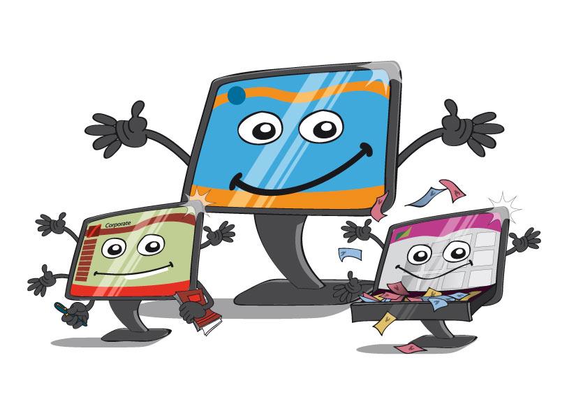 illustration sites web vitrine, corporate et marchand