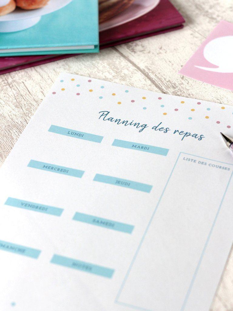 Planning Repas Semaine A Imprimer Idees De Menu Creacoton