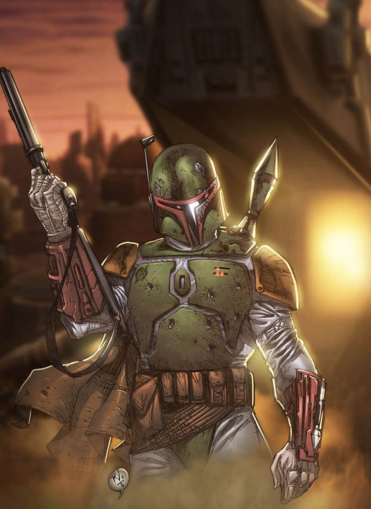 ilustraciones_star_wars_the_force_awakens_bobafett_rudy_vasquez