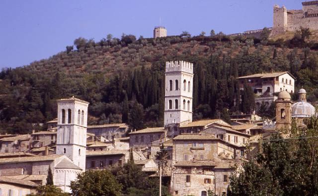 Assisi - Vista della città vecchia