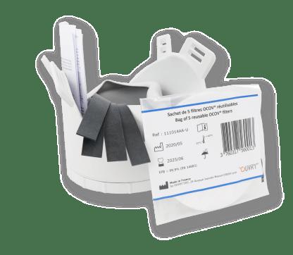 masque de protection OCOV avec 5 filtres