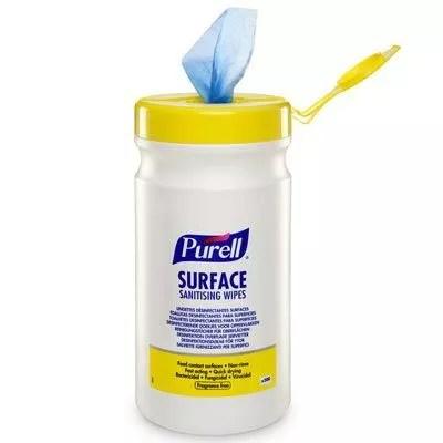 Lingettes désinfectantes normes alimentaires Purell