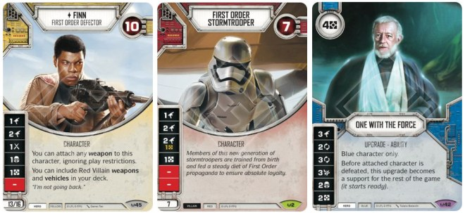 Star Wars Destiny Cards