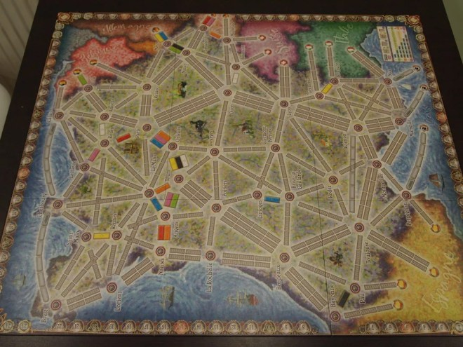 Ticket to Ride France Board
