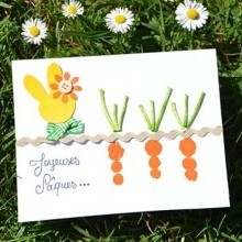 idée activité manuelle enfants carte Pâques empreintes de doigts