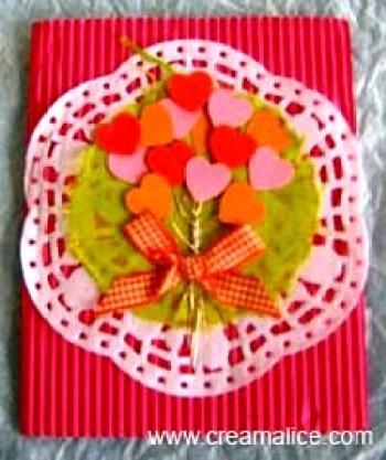 Carte Bouquet de Coeurs