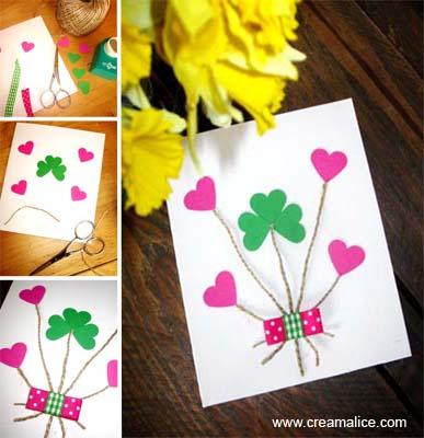 Carte Bouquet Coeurs