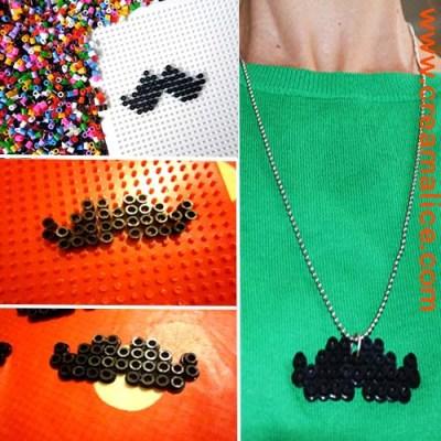 DIY Collier Moustache Perles hama