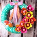 diy couronne fleurs récup printemps