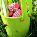 diy panier lapin Pâques en feutre coloré