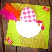 idée carte poulette Pâques