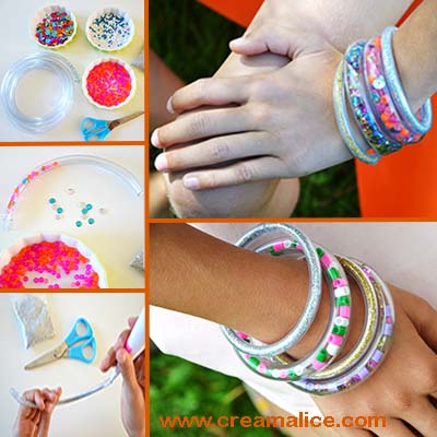 diy-bracelet-tube-paillettes