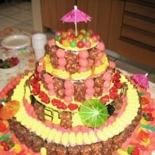 diy gâteau bonbons anniversaire enfants