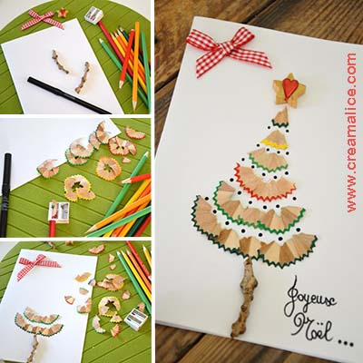 diy-carte-sapin-Noel-epluchures-crayons-Creamalice