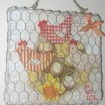 idée créative tableau poulettes