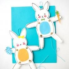 diy déco lapin Pâques articulé