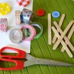 bricolage enfants cadres masking tape