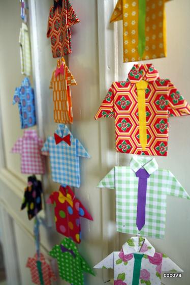 diy-guirlande-chemise-origami