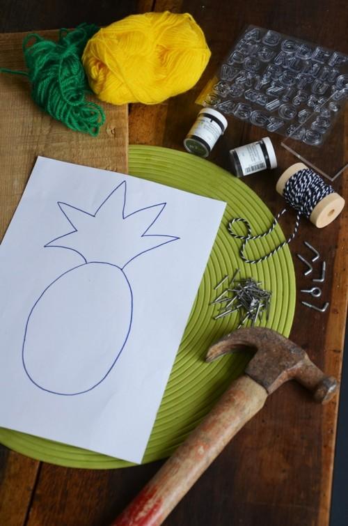 diy-porte-cles-mural-ananas-Creamalice1