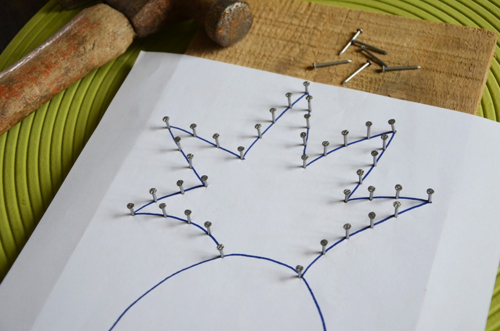 diy porte cl s mural ananas string art. Black Bedroom Furniture Sets. Home Design Ideas