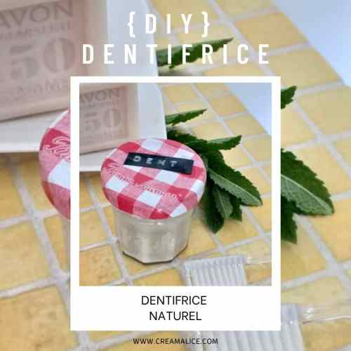 diy dentifrice naturel Creamalice