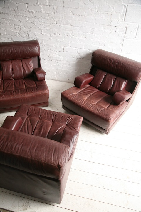 leather and chrome chairs chair covers sashes 1970s modular sofa / by tetrad uk | cream