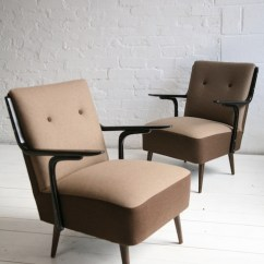 Unusual Chair Legs Wheelchair That Climbs Stairs 1950s Brown Lounge Chairs | Cream And Chrome