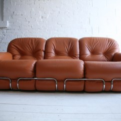 Italy Leather Sofa Uk Dog Friendly Throws 1970s By Adriano Piazzesi   Cream And Chrome