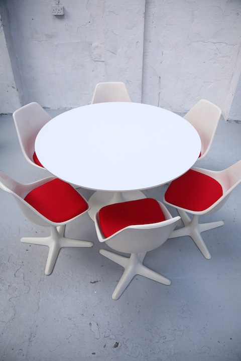 unusual dining chair outdoor table and chairs 1960s 6 by arkana | cream chrome