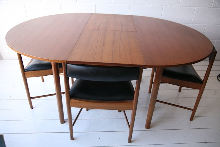 mid century chairs uk wedding chair cover hire toowoomba 1960s teak dining table and 4 | cream chrome