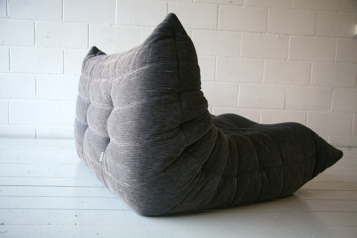 grey fabric sofa uk logan vintage ligne roset 'togo'   cream and chrome