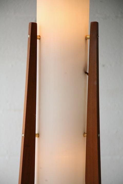 1960s Rocket Lamp  Cream and Chrome