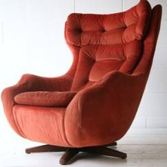 Swivel Chair Mid Century Leather Smoking 'statesman' By Parker Knoll | Cream And Chrome