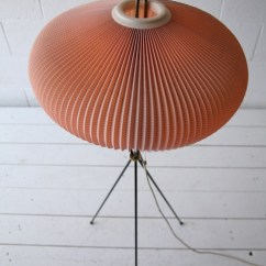 Pale Pink Chair Hanging Garden B&q 1950s French Pleated Floor Lamp | Cream And Chrome