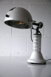1950s Heat Lamp by Hanovia | Cream and Chrome