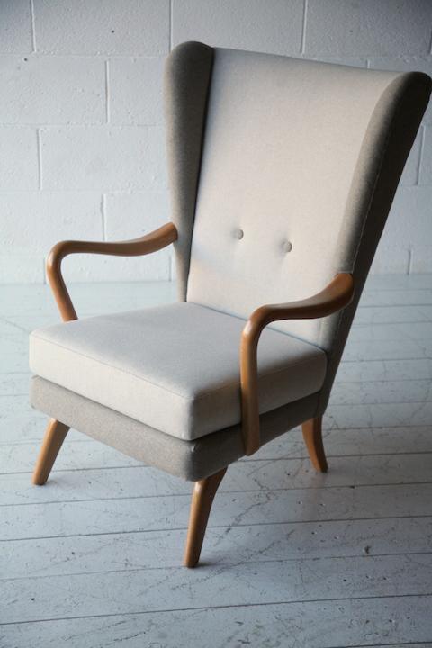unusual armchair folding chair jysk 1950s by howard keith | cream and chrome