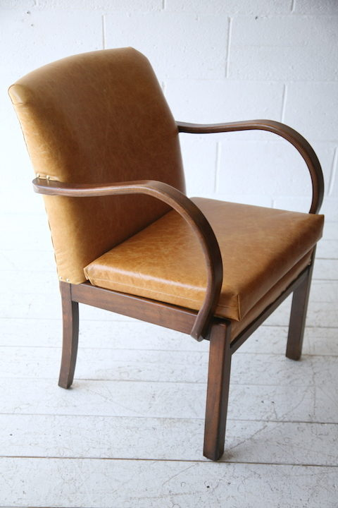 distressed leather armchair uk small bistro table and chairs outdoor 1930s | cream chrome