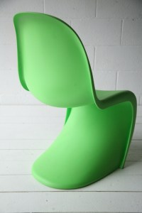 Verner Panton Chair for Vitra | Cream and Chrome