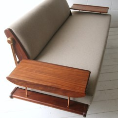 Fold Out Sofa Bed Uk Foam Chair Vintage 1960s Sofabed By Toothill | Cream And Chrome