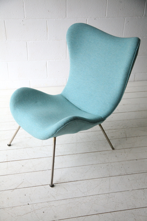 wingback chair uk office warmer 1950s designed by fritz neth | cream and chrome