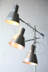 Vintage 3 Arm Floor Lamp | Cream and Chrome