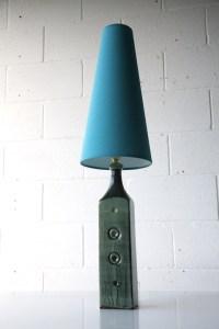1960s Ceramic Lamp Base | Cream and Chrome