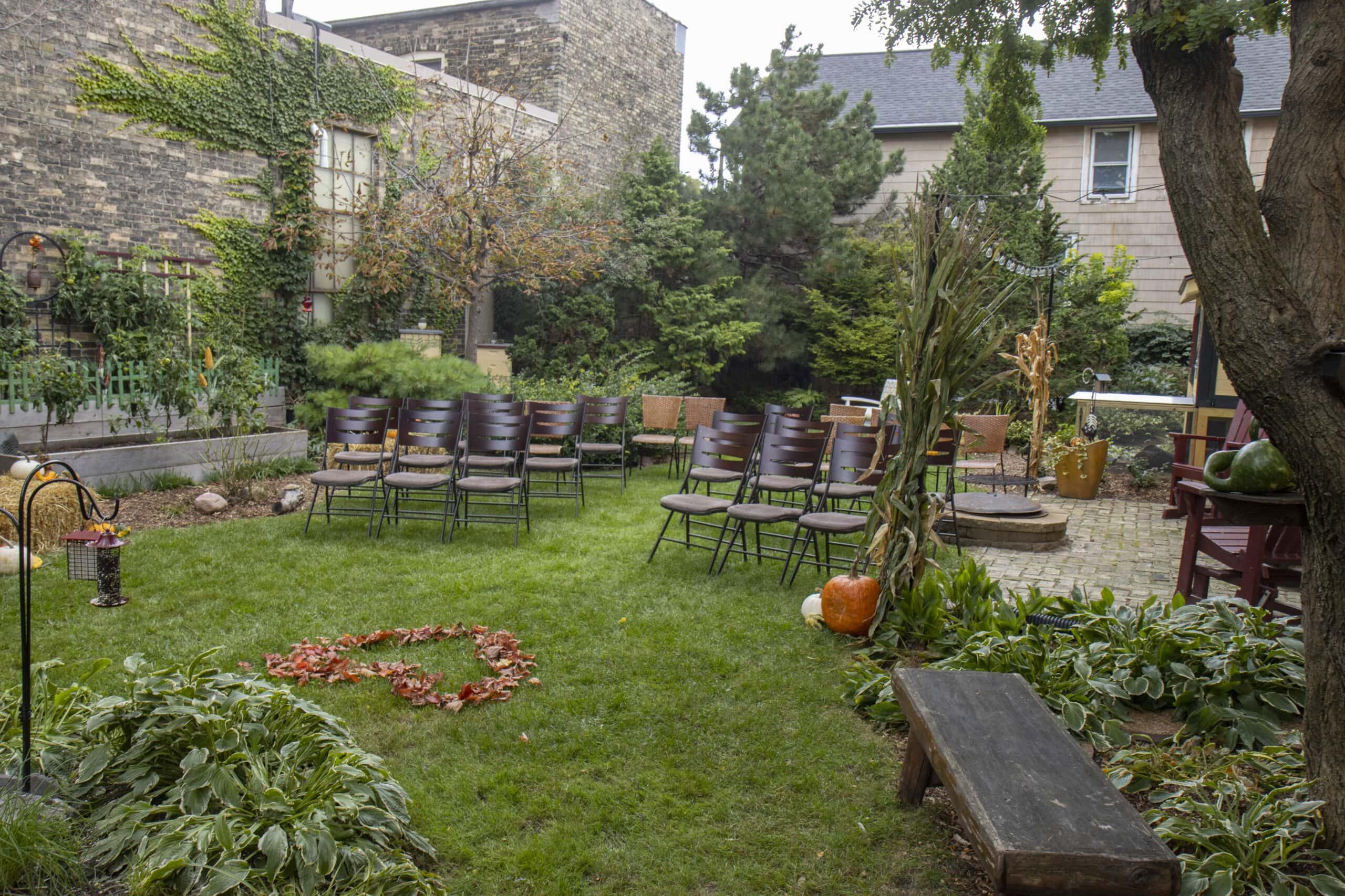 Outdoor Wedding Garden Photography Milwaukee WI