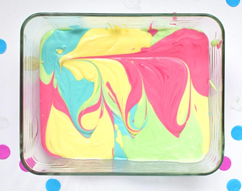 how to make rainbow coloured ice cream