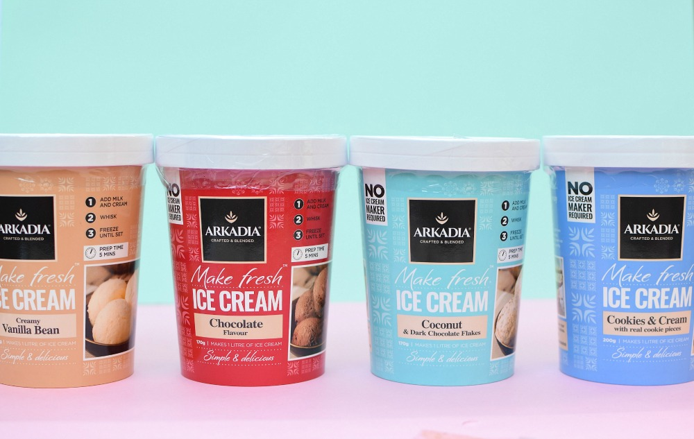 Arkadia ice cream range