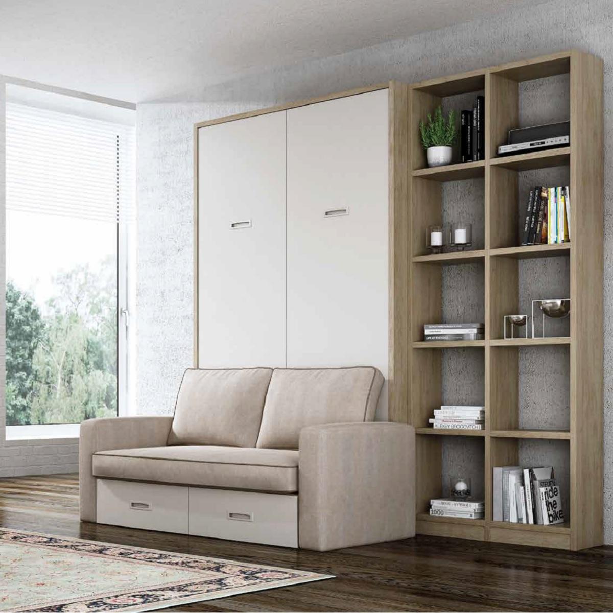 Cama abatible con sofa de Noel Madrid.