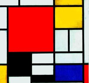 0333329 Piet Mondriaan Compositie Geel Blauw Rood