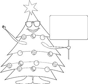 Albero Di Natale Disegno Da Colorare.Albero Di Natale Con Messaggio Da Colorare Crearegiocando