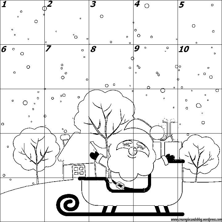 puzzle numeri babbo natale