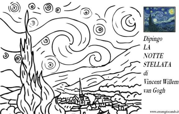 Vincent Van Gogh 2 Quadri Da Colorare Crearegiocando